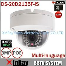 Hikvision DS-2CD2135F-IS HD 3MP IP67 IR Network Mini Dome POE IP Camera 2.8mm