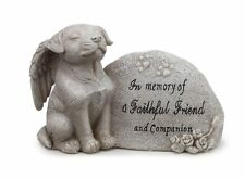 Sitting Dog Puppy Angel Pet Memorial Stone