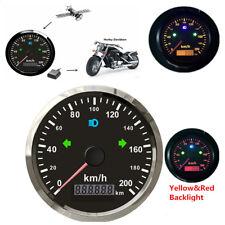 85mm Auto GPS Tacho Kilometerzähler Wasserdicht Rot /Gelb Hintergrundbeleuchtung