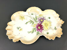 Antique Victorian porcelain dresser tray Brunswick Germany 1890's