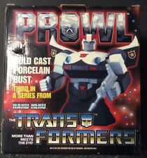 HASBRO TRANSFORMERS PROWL COLD CAST PORCELAIN BUST 3RD IN A SERIES MIB