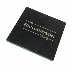 Personalised Natural Slate Coasters- Design your own - Pack of 4