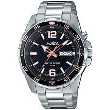 Casio Men's Silvertone Watch, Date, 100 Meter, Super Illuminator, MTD1079D-1A3V