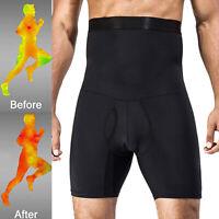 Men Compression High Waist Boxer Shorts Tummy Slimming Body Shaper Girdle Pants