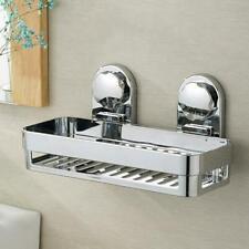Kitchen Bathroom Rustproof Shower Storage Basket Caddy Shelf Suction Cup holder