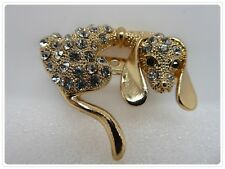 Beautiful Rhinestone Dog/Puppy Brooch,Beautiful,Gift Idea,Jewellery,Fashion,Gems