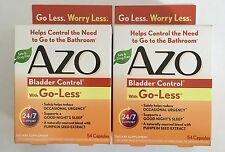 2 Boxes AZO Bladder Control Dietary Supplement 108 Pills 54 Day Supply Go Less