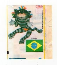 Fleer Dubble Bubble Wax Wrapper + insert International Cats Series - Brazil