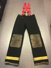 FIREMAN FIREFIGHTER BUNKER PANTS 36x36 TURNOUT GLOBE AUTHENTIC COSTUME STRIPPER