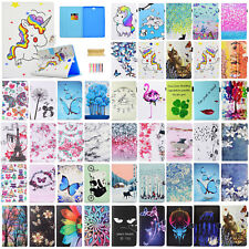 """Smart Leather Case Pattern Wallet Cover For Samsung Galaxy Tab A 10.1"""" SM-T580"""