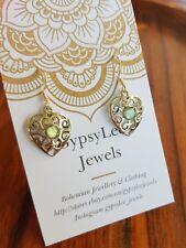 Labradorite Filigree Earrings Solid Sterling Silver Gemstone ♡ GypsyLee Jewels