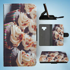 SAMSUNG GALAXY NOTE 9 FLIP CASE WALLET COVER|CUPCAKE #2