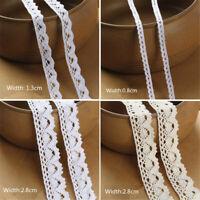 10Yards Vintage Cotton Lace Edge Trims DIY Ribbon Applique Crochet Sewing Craft