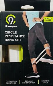 New C9 Champion Exercise Circle Round Resistance Bands 3pk Light, Medium, Heavy