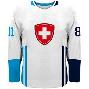 2021 Switzerland Team Europe Hockey World Cup Jersey White NHL NIEDERREITER JOSI