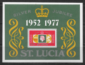 SEYCHELLES , 1977 , 25th ANNIV. REIGN ELIZABETH II , SOUVENIR SHEET , PERF , MNH