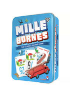 Mille Bornes The Classic Racing Game Cards French Dujardin Tin Cars 2-6 Players!