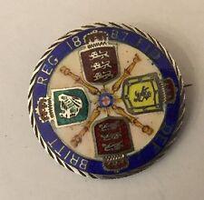 Sterling Silver émail émaillé Victoria 1887 2 Shilling Florin Pièce Broche
