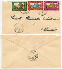 Nouvelle-Calédonie Arama 1945 Multi affranchissement interne à SOCIETE HAVRAISE français cols