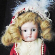 HANDWERCK BISQUE SHOULDER HEAD DOLL CABINET GERMAN DEP ANTIQUE CLOTHES VICTORIAN