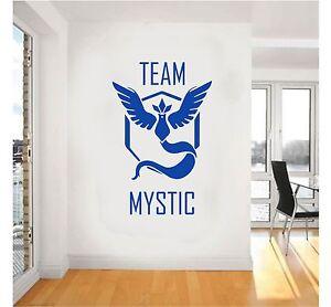 Pokemon Go Team MYSTIC Symbol Wall Art Stickers decal design