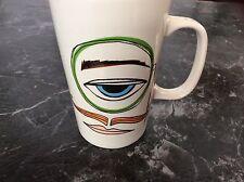 Starbucks 2014 Eye with Monocle and Man with Mustache and Lips 16oz Mug
