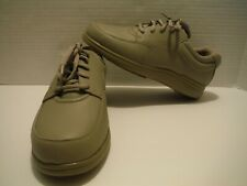 NEW HUSH PUPPIES SIZE 8 W WIDE LARGE POWER WALKER TAUPE LEATHER LACE UP H54027