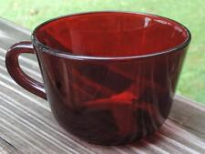 """EC VINTAGE ANCHOR HOCKING ROYAL RUBY RED GLASS 2-3/8""""h ROUND COFFEE/TEA CUP"""