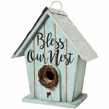 Bless Our Nest Wood Functional Country Inside Outside Birdhouse