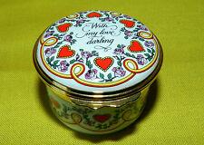 Halcyon Days Happy St. Valentines Day Beautiful 1994 Trinket Box Limoges