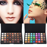Cosmetic Matte Eyeshadow Cream Eye Shadow Makeup Palette Shimmer Set 40Color ET