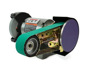 """JET 8"""" 1HP BENCH GRINDER WITH MULTITOOL 2""""X36"""" BELT AND DISC ATTACHMENT"""