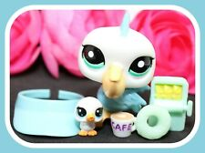 ❤️Authentic Littlest Pet Shop LPS #2450 #1-88 Mom Pelican Daisy Pelicano BABY❤️