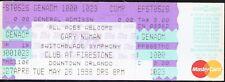 Gary Numan + Switchblade Symphony UNUSED 1998 CONCERT TICKET stub/no-cd MINT!
