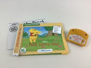 Pooh Loves You Little Touch Leappad Leap Frog 2004 Baby Cartridge and Book
