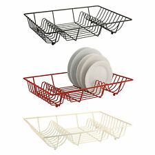 Zodiac Colours Flat Plate Drainer Black Red Cream Sink Worktop Metal Wire Rack