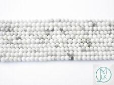 White Howlite Natural Gemstone Round Beads 2mm Jewellery Making (180+ Beads)