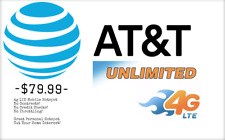At&T 4G Lte Unlimited Hotspot Data $79.99 Unthrottled Unlimited Sim Monthly!