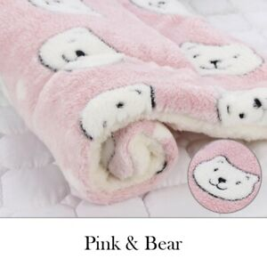 Soft Flannel Blanket Mat Bed For Cat And Puppies Warm Cushion Rug 61x41 cm Pink