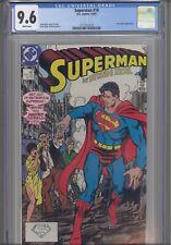 Superman #10 CGC 9.6 1987 DC: John Byrne Story & Art Lex Luther App : NEW FRAME