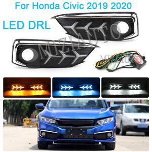 For Honda Civic 2019-2020 DRL LED Daytime Running Light With Turn Signal Lamp