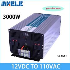 DC12V to AC110V 3000W Pure Sine Wave Off Grid Solar Power Inverter LED Display