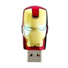 Avengers IronMan Head Design 100% Genuine 32GB Memory LED USB2.0 Flash Pen Drive