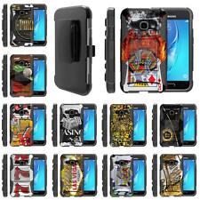 For Samsung Galaxy J Series Phone Holster Belt Clip Armor Gambling Casino Case