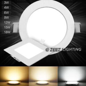 3/4W 6W 9W 12W 15W 18W 20W 25W Dimmable LED Recessed Ceiling Panel Light Fixture