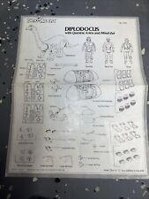 Dino Riders Diplodocus Dinosaur Tyco Vintage 1987 instructions
