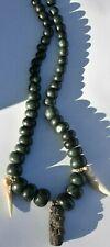 "Sale! Pre Columbian Mayan Crypt jade/stone/bone Necklace 14"" Prov"