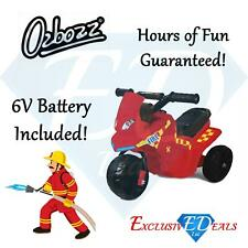 Ozbozz Fire & Rescue Kids Motorised 6v Electric Ride On Motorbike/Motorcycle Red