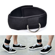 D-ring ankle anchor strap belt multigym cable attachment thigh leg pulleyStrapJc
