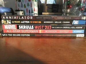 Grant Morrison TPB HC Lot All Star Superman We3 Deluxe Aztek Skrulls Annihilator